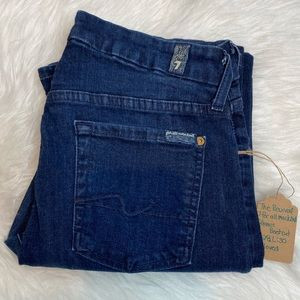 7 FOR ALL MANKIND KIMMIE BOOTCUT JEANS 28 DARK